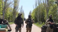 Ukrainian soldiers from SBU Alpha Group near Kramatorsk (25 April 2014)