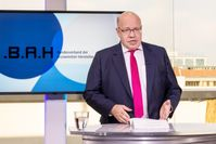 """Bundeswirtschaftsminister Peter Altmaier spricht auf der digitalen Mitgliederversammlung des BAH. Bild: """"obs/BAH / Svea Pietschmann"""""""