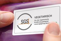 """Das Prüfinstitut SGS hat ein neues Zeichen für vegane und vegetarische Nahrungsmittel entwickelt. Bild: """"obs/SGS Germany GmbH"""""""