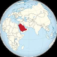 Königreich Saudi-Arabien auf der Welt