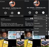 Auf den folgenden Bildern wird veranschaulicht wie der Fake-Kanal gemeldet werden kann. Bild: KenFM