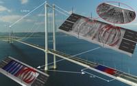 Details einer Brücke mit optimierter innerer Struktur.
