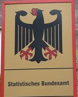 Behördenschild des StatistischesnBundesamtes. Bild: Kandschwar / wikipedia.org