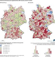 Entwicklung der Angebotsmieten 2007-2012
