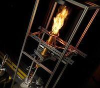 Prototyp des innovativen Eisenpulver-Brenners.
