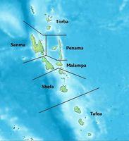 Vanuatu ist ein souveräner Inselstaat  im Südpazifik. Der aus 83 Inseln bzw. Inselgruppen  bestehende Staat wurde bis 1980 Neue Hebriden genannt. Bild:  DEMIS BV / de.wikipedia.org