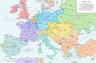 Europa 1871, nach dem Deutsch-Französischen Krieg von 1870-1871 und der Gründung des Deutschen Kaiserreichs.