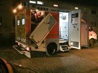 Der beschädigte Rettungswagen nach der Durchfahrattacke eines aufgebrachten Autofahrers.