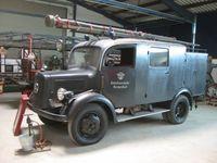 Leichtes Löschgruppenfahrzeug LLG in luftwaffengrau (1943) im Rheinland-Pfälzischen Feuerwehrmuseum Hermeskeil