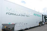 Mercedes Petronas GP Transporter