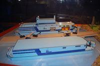 Modell des Kernkraftwerk Akademik Lomonossow