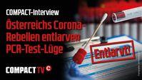 """Bild: SS Video: """"Österreichs Corona-Rebellen entlarven PCR-Test-Lüge"""" (https://youtu.be/g4-QYEhGxe4) / Eigenes Werk"""