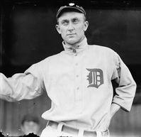 "Tyrus ""Ty"" Raymond Cobb (* 18. Dezember 1886 in Narrows, Georgia; † 17. Juli 1961 in Atlanta, Georgia) war ein amerikanischer Baseballspieler und –manager in der Major League Baseball. Sein Spitzname war The Georgia Peach."