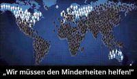 Weltweite Bevölkerungsverteilung nach Verhältnis (Symbolbild)