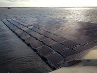 Schwimmende Solarzellen: Themse soll Strom liefern. Bild: thameswater.co.uk