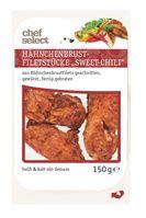 """Der Hersteller SK Meat-Vertriebs GmbH informiert über die Angabe eines falschen Verbrauchsdatums auf dem Produkt """"Hähnchenbrust-Filetstücke Sweet-Chili, 150 g"""" Bild: """"obs/LIDL/Lidl"""""""