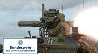 Panzerabwehr: Ein TOW wird mit einem Wiesel abgefeuert (Symbolbild)