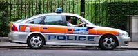 Streifenwagen der Schutzpolizei der (London) Metropolitan Police