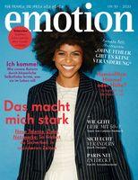 """EMOTION Verlag GmbH, Titelbild zu Ausgabe 09/10_2020, EVT: 26.08.2020, Titelthema: """"Das macht mich stark"""".  Bild:     EMOTION Verlag GmbH"""