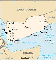 Karte des Jemen