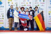 BILD zu OTS - Zielwettbewerb Damen - Gold an Österreich. Mit insgesamt 698 Punkten holte sich die Österreicherin Simone Steiner Gold. Dies ist bereits ihre 4 Medaille bei der Eisstock WM 2018 in Amstetten-Winklarn.