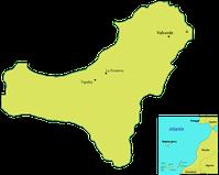 El Hierro (vormals Ferro, auch Isla del Meridiano) ist die westlichste und kleinste der sieben großen Kanarischen Inseln im Atlantischen Ozean.