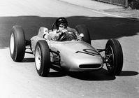 Dan Gurney auf Porsche Typ 804 beim Formel-1-Rennen auf der Solitude 1962