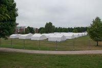 Flüchtlinge: Erstaufnahmelager Jenfelder Moorpark in Hamburg-Jenfeld