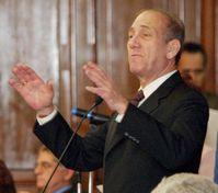 Ehud Olmert bei einer Rede in São Paulo, 2005