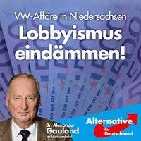 Alexander Gauland auf einem Wahlplakat der AfD