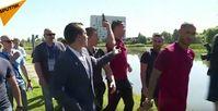 "Bild: Screenshot Youtube Video ""Ronaldo rastet aus: Fußballstar zerstört Reporter-Micro"""