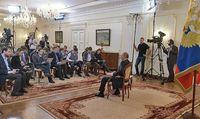 Pressekonferenz von Putin in Nowo-Ogarjowo
