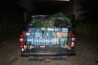 Pickup mit Getränken Bild: Polizei