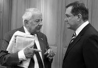 Kleist (links) im Gespräch mit Franz Josef Jung
