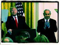 Donald Trump stellt die 2-Staatenlösung für den Nahen-Osten vor (2020)