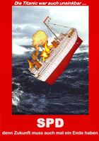 SPD: Von allen Seiten in der Kritik und laut der überwältigenden Mehrheit der Deutschen dem Untergang geweiht (Symbolbild), Logo