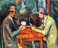 """""""Die Kartenspieler"""" (1892-96) von Paul Cézannes. Für die Kartenspieler, von denen es fünf Motive gibt, standen ihm Bauern und Tagelöhner Modell, die auf den Feldern beim Jas de Bouffan arbeiteten. Bild: de.wikipedia.org"""
