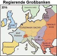 """Kritik wird europaweit laut gegen Großbankenchefs in der Politik: Viele halten die immer wärend gleichen Banken für """"Regierende Großbanken""""(Symbolbild)"""