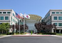 Hauptsitz der Apple Inc in Infinite Loop in Cupertino, California