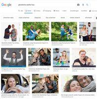 """Googlesuche nach Bildern: """"glückliche weiße Frau"""""""