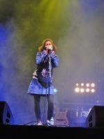 """Nneka auf dem """"Rock en Seine Festival"""", Paris, 2011"""