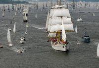 Kieler Woche: Die Gorch Fock auf der Windjammerparade 2014