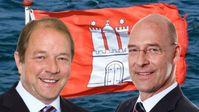 Dirk Nockemann (li) und Dr. Alexander Wolf (re), Vorsitzende der AfD-Fraktion in der Hamburgischen Bürgerschaft