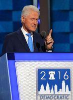 Bill Clinton bei seiner Rede auf dem demokratischen Parteitag im Juli 2016, bei dem seine Frau Hillary zur ersten weiblichen Kandidatin einer der beiden großen Parteien gewählt wurde