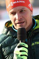 Tobias Angerer am Rande des Skilanglaufweltcups am Dresdner Elbufer (2018)