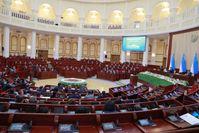 Plenarsaal des Unterhauses usbekischen Parlaments inTaschkent, Usbekistan / Bild: Oliy Majlis Fotograf: Berliner Telegraph UG