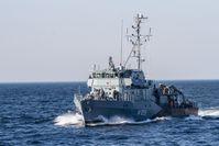 Das Minenjagdboot M 1059 Weilheim. Bild: Bundeswehr / Marcel Kröncke