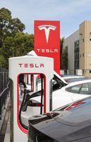 Das T im Logo von Tesla soll einen Sektor des Querschnitts eines Elektromotors darstellen
