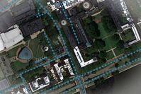 Satellitenaufnahme: verrät einiges zu Straßen.