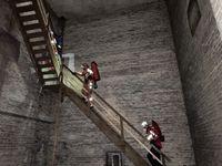 Der Aufstieg in den Turm erfolgte über diverse Treppen und Leitern Bild: Feuerwehr